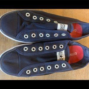 Converse Navy Slip on Tennis Shoes sz 7
